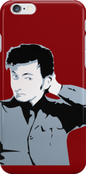 David Tennant iPhone Case Red by emre801