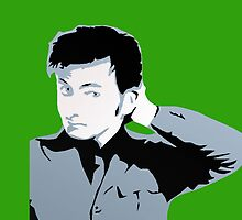 David Tennant iPhone Case Green by emre801