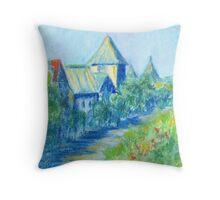 Solvang Skyline (pastel) Throw Pillow
