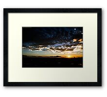 Sunset over Caloundra Framed Print