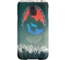 title fight deer  Samsung Galaxy Case/Skin