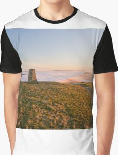 Mam Tor Trig Point Graphic T-Shirt