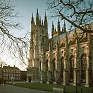 Canterbury Cathedral south west door 198402130016 by Fred Mitchell