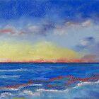 Carlsbad Sunset North (pastel) by Niki Hilsabeck