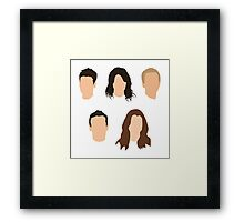 How I Met Your Mother Minimalist Print - No Names Framed Print