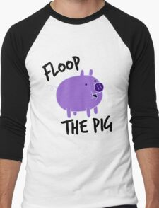 Floop the Pig Men's Baseball ¾ T-Shirt