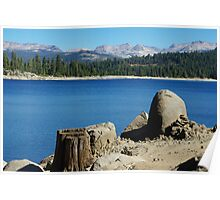 Lakeshore, Ice House Reservoir, California Poster