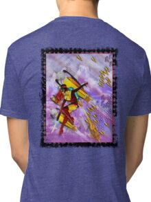 space ship invasion zapgun jetgirl Tri-blend T-Shirt