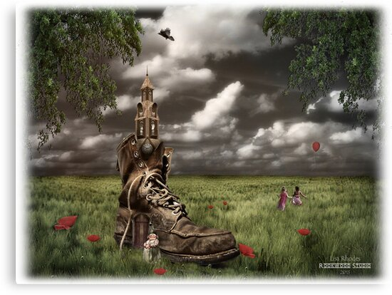 There was an old woman who lived in a shoe.......... by Rookwood Studio ©