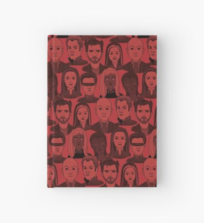 X Men Characters - Red Hardcover Journal