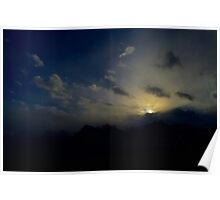 Stunning Red Rock Canyon Sunset Poster
