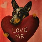 Australian Cattle Dog~Love Me~Valentine by shinerdog