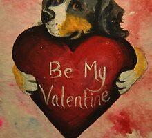 Bernese Mountain Dog~Be My Valentine by shinerdog
