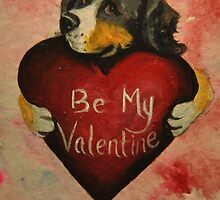 Bernese Mountain Dog~Be My Valentine by shinerdog