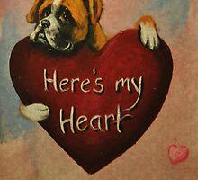 Boxer~Dog~Here's My Heart~Valentine by shinerdog
