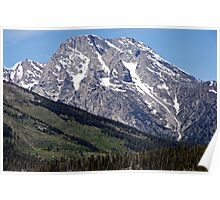 Grand Teton Mountain and Slope Poster