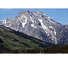 Grand Teton Mountain and Slope Photographic Print