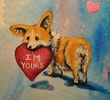 Pembroke Welsh Corgi~dog~I'm Yours~Valentine by shinerdog