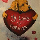 Golden Retriever~Dog~My Love Forever~Valentine by shinerdog