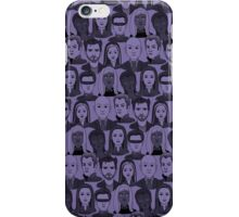 X Men Characters - Purple iPhone Case/Skin