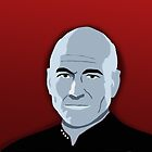 Captain Picard iPhone Case by emre801