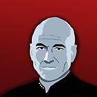 Captain Picard iPhone Case by emre801
