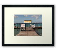 Bonaire Nautico Marina Framed Print