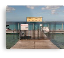 Bonaire Nautico Marina Metal Print