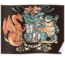 Kanto Coat of Arms Poster