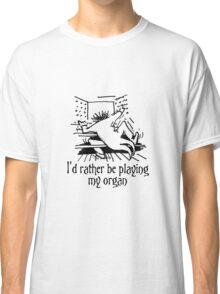 Funny cartoon of organist Classic T-Shirt