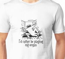 Funny cartoon of organist Unisex T-Shirt