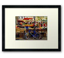 Aix-en-Provence - Market stall with bike Framed Print