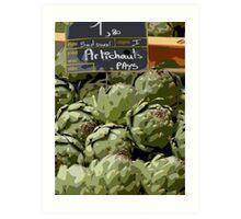 Dordogne - Artichokes in the market Art Print