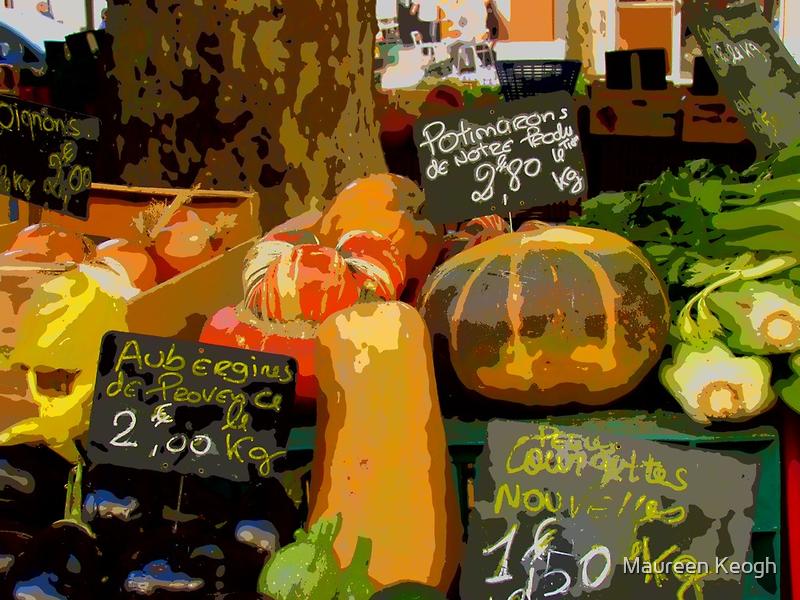 Aix-en-Provence - Assorted market vegetables by Maureen Keogh