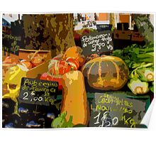 Aix-en-Provence - Assorted market vegetables Poster