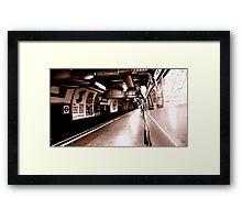 Empty Platform Framed Print