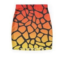 Flame Giraffe Pattern Mini Skirt