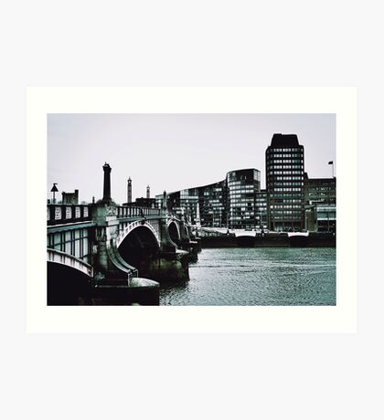 Cold day in London 1965 Art Print