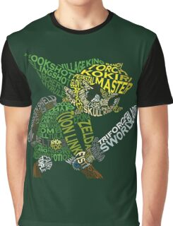 Toon Link Typography Graphic T-Shirt