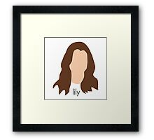 How I Met Your Mother - Lily Headshot Framed Print