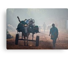 Off to Market. Metal Print