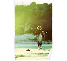 Retro Surfer- Colour Poster