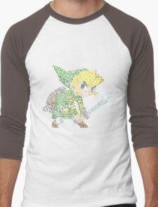 Toon Link Typography Men's Baseball ¾ T-Shirt