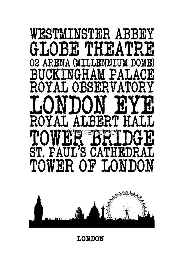 London Landmarks by Alexandrico