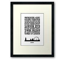London Landmarks Framed Print