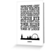 London Landmarks Greeting Card