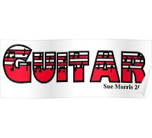 Guitar Red Poster