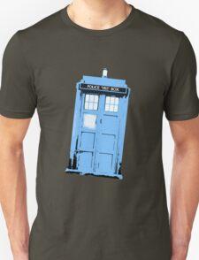 Worn Blue Tardis T-Shirt