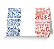 Les Miserables - Do You Hear The People Sing Flag Greeting Card