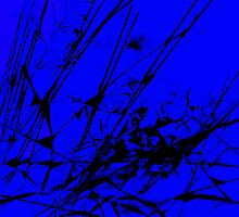 Strike Out Blue and Black Abstract by Natalie Kinnear